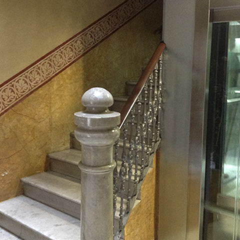 Ascensor por hueco de escalera